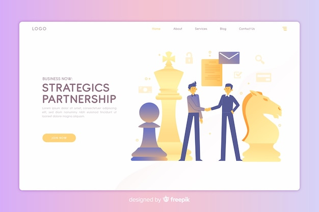 Strategics partnership landing page