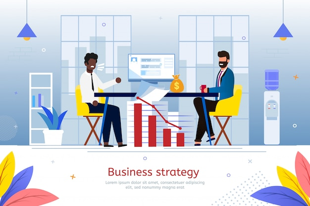 Strategy for business start flat