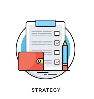 Strategy flat vector icon