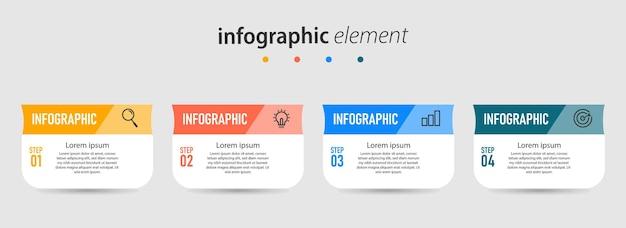 Шаблон элемента стратегии инфографики