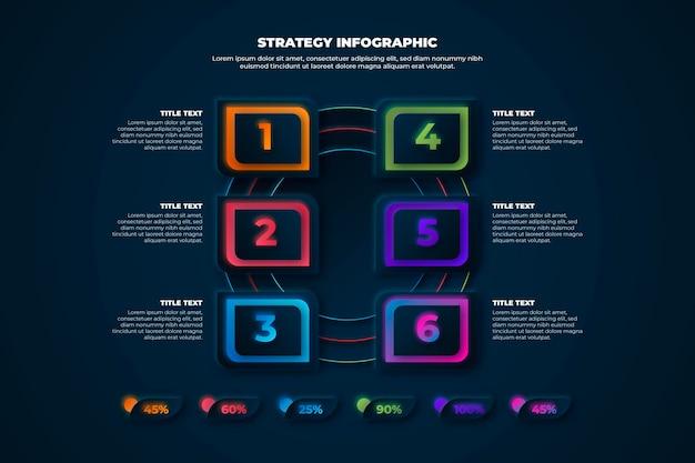 戦略インフォグラフィックテンプレート