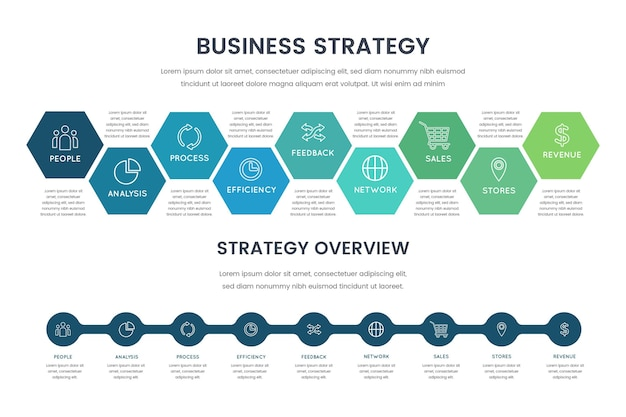 Strategy infographic