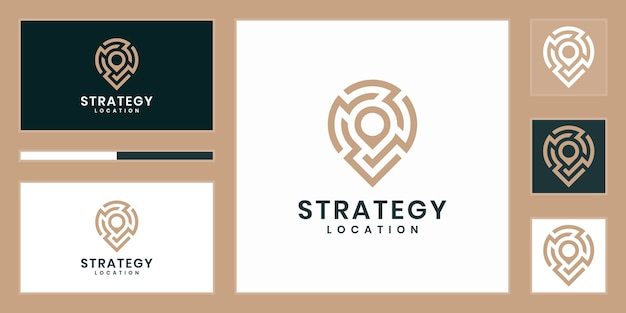 Strategy location or point tech logo.