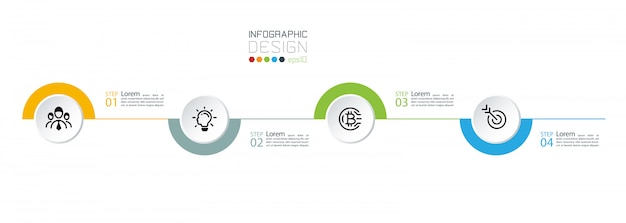 Strategy marketing business processing infographics.