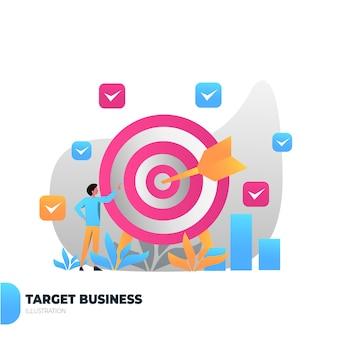 Strategy presentation illustration people