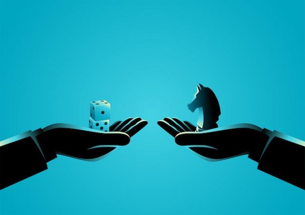 Strategy versus speculation