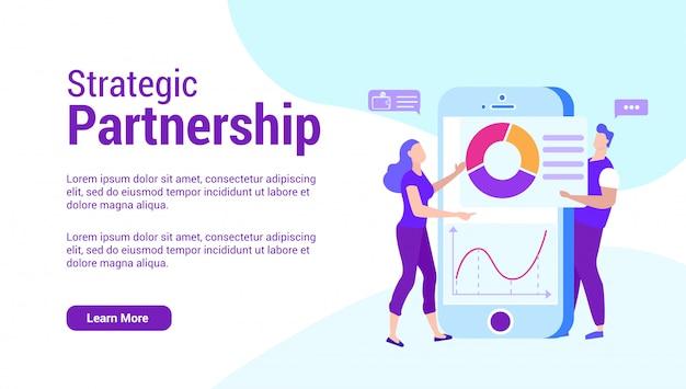 Stratigic partnership teamwork.