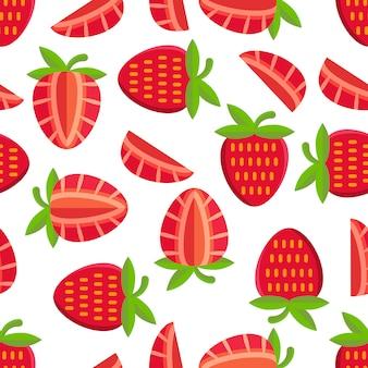 딸기 패턴 배경