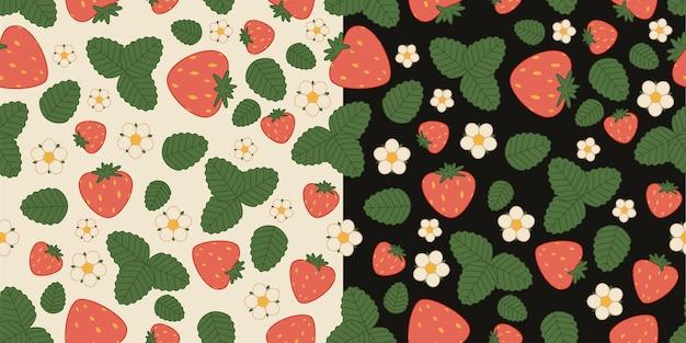 イチゴのシームレスな背景