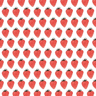 Strawberries  seamless pattern background