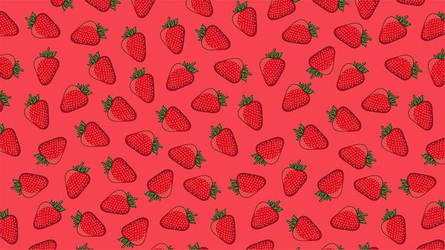 딸기 배경 패턴 벡터 절연