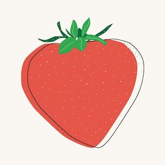 딸기 베리 고립 된 벡터 일러스트 레이 션. 여름 예술입니다. 건강 식품 디자인입니다. 스칸디나비아 스타일.