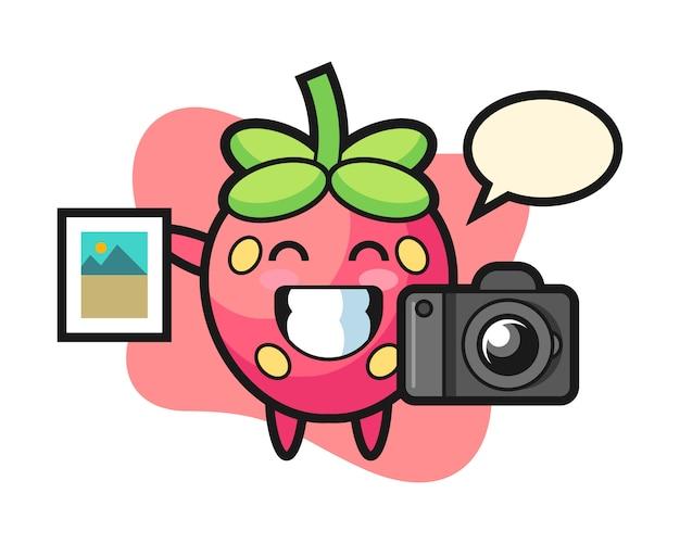 写真家としてのイチゴの漫画
