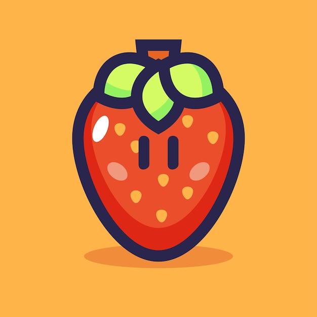 イチゴの漫画のベクトル図