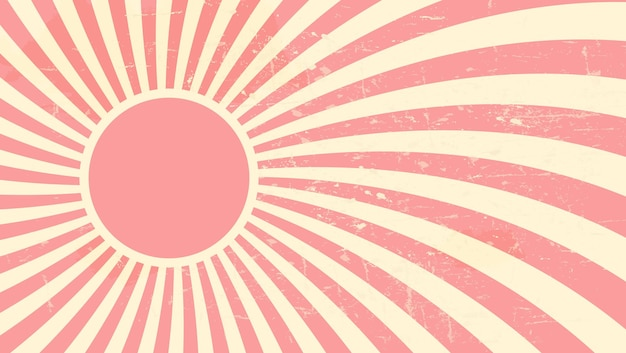 イチゴ、クリーム色の抽象的な催眠術の背景。ベクトルイラスト