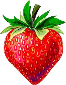 いちご美味しいいちご甘いいちご赤い絵いちごイラスト