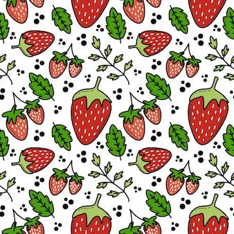 Strawberry doddle seamless pattern