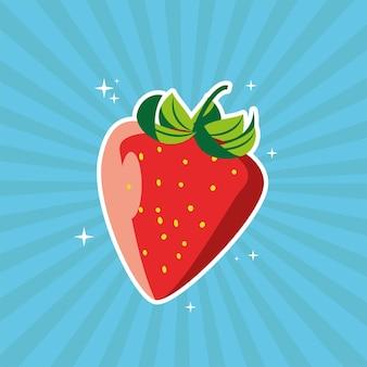 Клубника фрукты свежие солнечные лучи фон