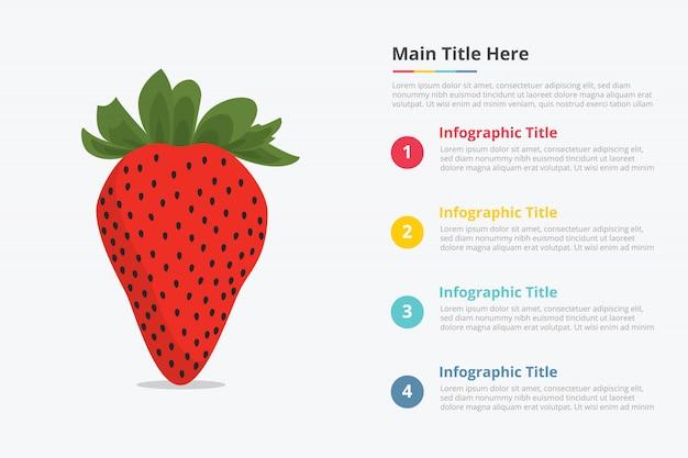 Клубника фруктовая инфографика