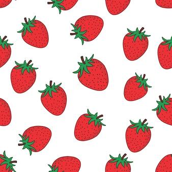 ストロベリーフルーツパターン
