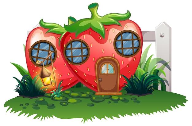 Клубничный домик в саду