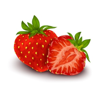 Strawberry isolated poster