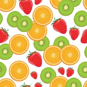 イチゴ、キウイ、オレンジのパターン。