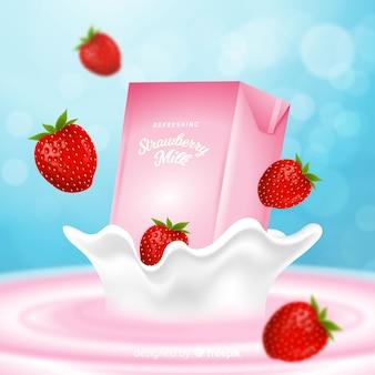 イチゴミルク広告の背景