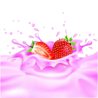 Strawberry milk-design