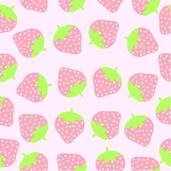 Strawberry pattern background