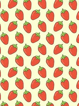 Strawberry pattern on pastel background
