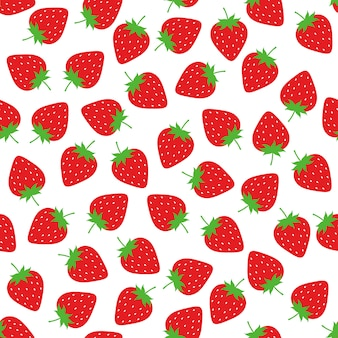 Strawberry seamless pattern background vector design