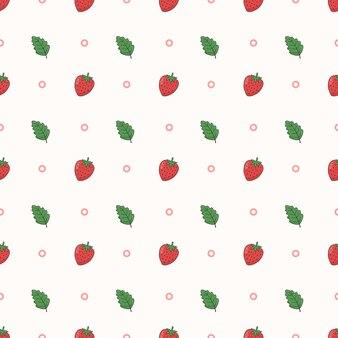 딸기 원활한 패턴 배경