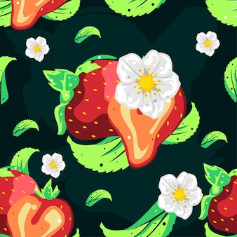 딸기 원활한 패턴 벡터 디자인