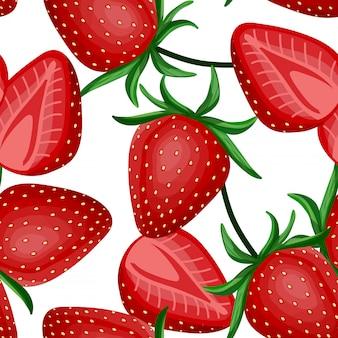 Strawberry seamless pattern.