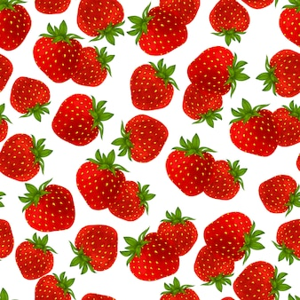 Strawberry seamless pattern