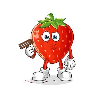 딸기 면도 수염