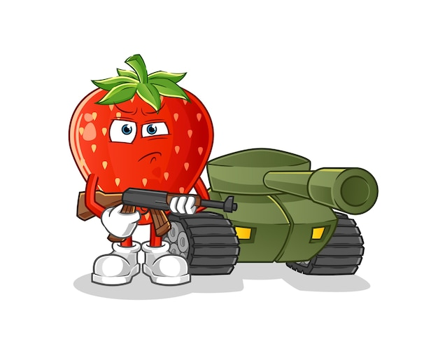 Клубничный солдат с персонажем танка