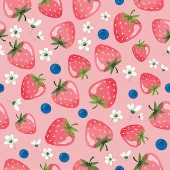 딸기 여름 완벽 한 패턴