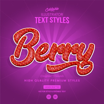 Strawberry text style