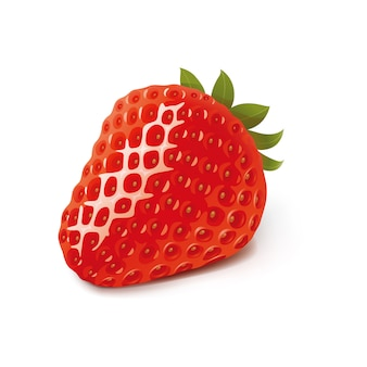 Strawberry vector design illustration template