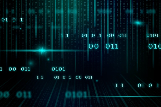 Stream of binary code design Free Vector