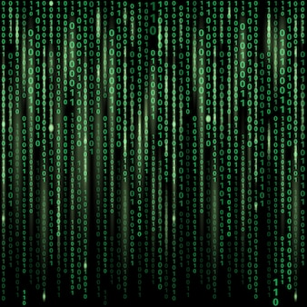 Stream of binary code on screen. abstract vector background. data and technology, decryption and encryption