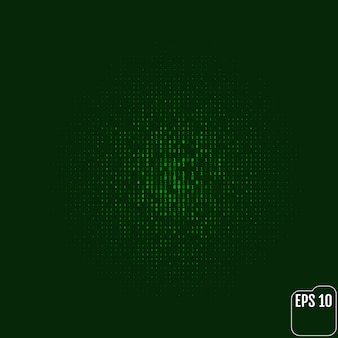 Stream of binary code on screen