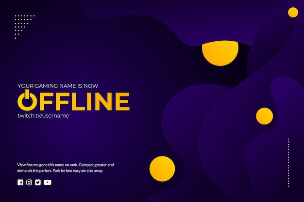 Stream gaming abstract background
