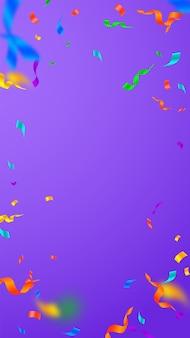 Streamers and confetti