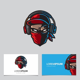 Streamers mascot logo, gaming badge