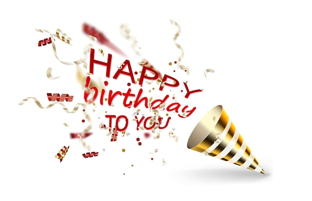 Шаблон векторных лент для баннера партии или поздравительной открытки с днем рождения