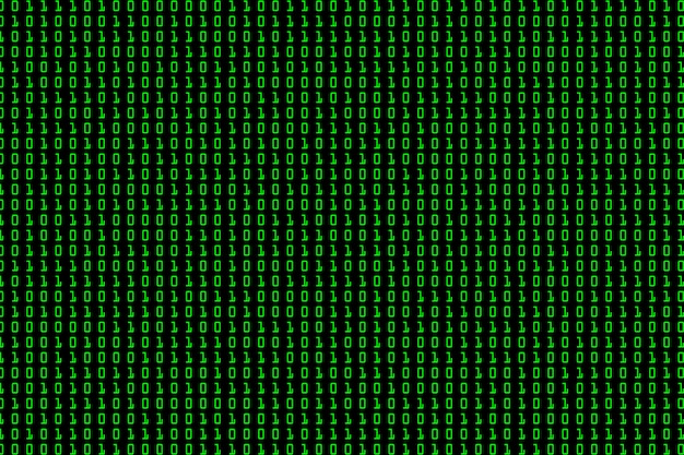 Streaming binary code background