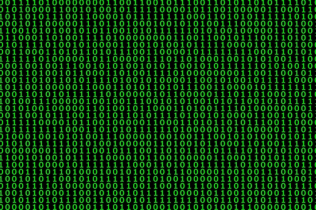 Streaming binary code cyber pattern with numbers